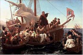 Christopher Columbus on Santa Maria 1492