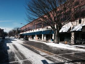 Downtown Salisbury During Snow Storm