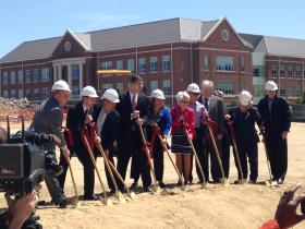Ground Breaking for Patricia R. Guerrieri Academic Commons including University President Janet Dudley Eshbach and Delegate Norm Conway