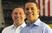 Lt. Gov. Anthony Brown (right) and Howard County Executive Ken Ulman (left)