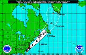 Hurricane Arthur's Expected Path