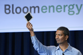 Bloom Energy Co-Founder and CEP KR Sridhar with fuel cell