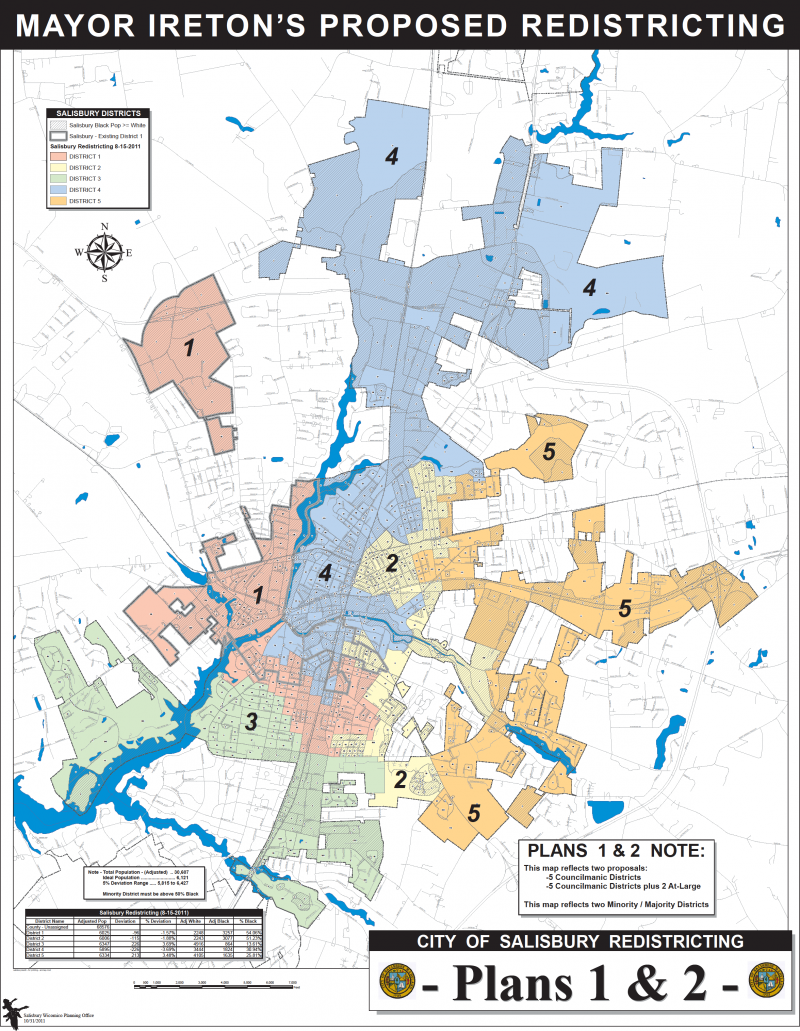 City of Salisbury Redistricting Plans 1 and 2