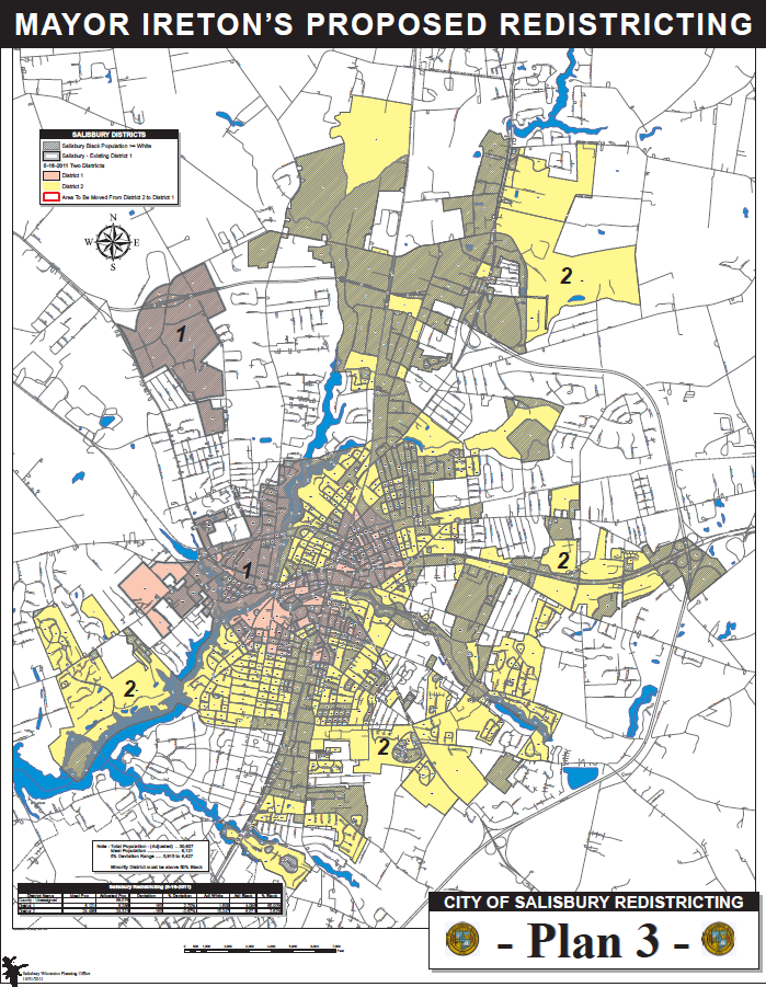 City of Salisbury Redistricting Plan 3