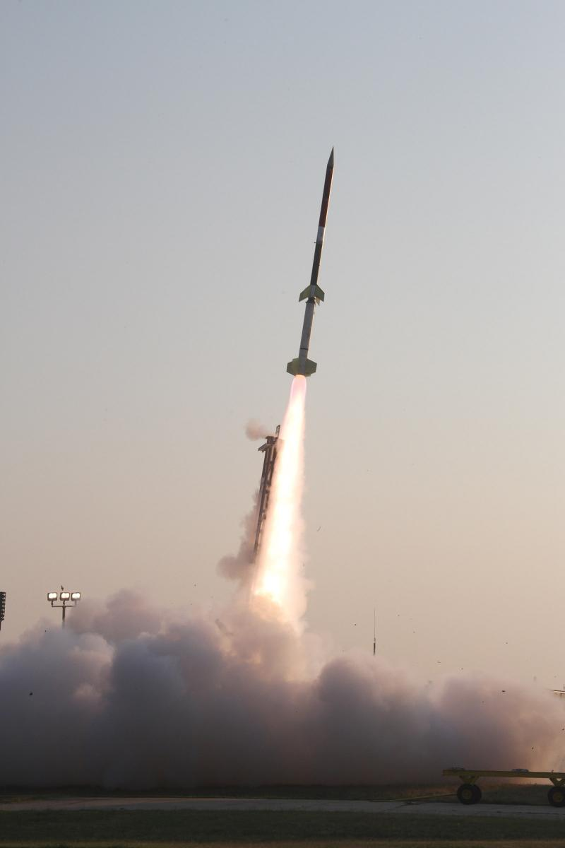 The two-stage Terrier-Improved Orion suborbital sounding rocket reached an altitude of 73 miles.