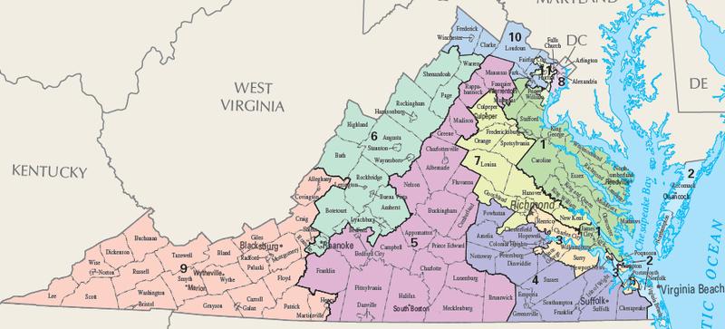 US Supreme Court To Hear Virginia Redistricting Case Delmarva - Us supreme court map