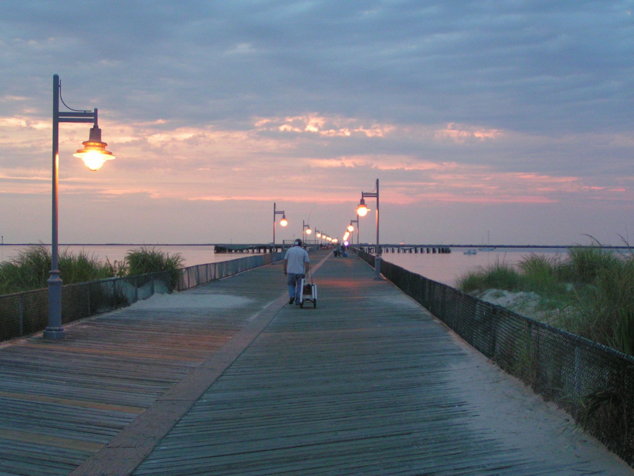 Famous cape henlopen pier closed delmarva public radio for Delaware surf fishing