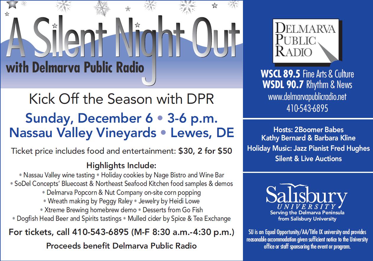A Silent Night Out - December 6th, 2015   Delmarva Public Radio
