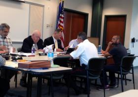 The Connecticut Board of Firearms Permit Examiners hearing a recent case on June 27th, 2013 in Wethersfield.