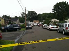 Scene of the accident in East Haven, Connecticut.