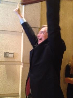 David Martin celebrating his victory