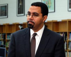 Education Commissioner John King following a private meeting in Shirley, New York.  King says he will have future public meeting but not ones with any yelling.
