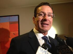 Connecticut Governor Dannel Malloy in Stamford on Wednesday.