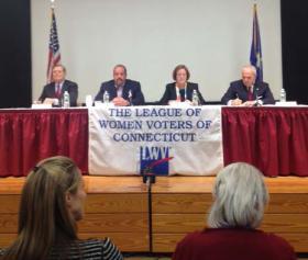 Candidates (l to r) David Martin, John Zito, Kathleen Murphy, Michael Fedele