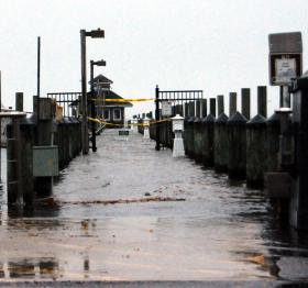 Sandy floods Port Jefferson Harbor