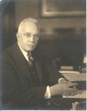 Connecticut Governor Wilbur T. Cross, who held office from 1931 to 1938