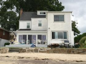 Rosemarie Sibilio's rebuilt home in Shippan Point.