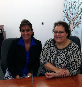 The Newtown Recovery Project's Joni Capoccitti and Anne Alzapiedi