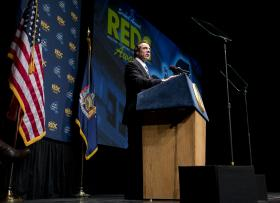 New York Gov. Andrew Cuomo speaks during the 2012 regional economical development council awards in Albany, N.Y. (file photo)