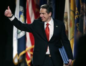 Governor Andrew Cuomo before his 2014 State of the State address