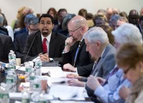 State Education Commissioner John King, left, explains the delayed phase-in of Common Core.  Proposed legislation would go further.