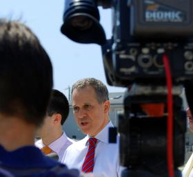 New York Attorney General Eric Schneiderman says investment companies were taking advantage of non-public information.