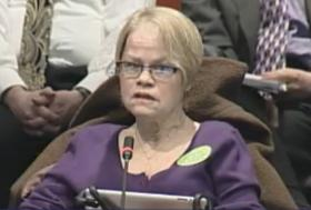 Sara Meyers, who has ALS, testified in favor of the bill