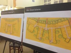 A display in Newtown on Tuesday night of designs for the new Sandy Hook Elementary School