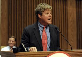 File photo-Ted Kennedy Jr. speaks during a 2011 rally for then Connecticut Attorney General Richard Blumenthal, who was running for U.S. Senate.