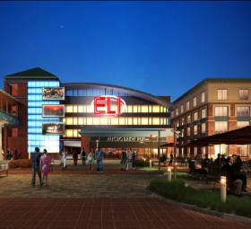 A rendering of the Ronkonkoma Hub project set to bring 1,500 apartments near the Ronkonkoma train station.