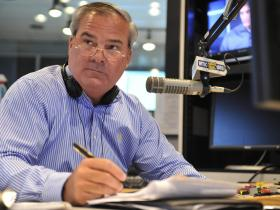 File photo- Former Connecticut Gov. John Rowland hosting a show on WTIC AM radio.