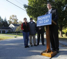 Then gubernatorial candidate Andrew Cuomo promoted his property tax cap in 2010.