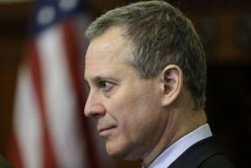 New York Attorney General Eric Schneiderman, speaks during a news conference in 2013.