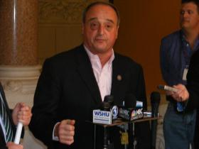 Conn House Republican Leader Larry Cafero responding to the Democrat's budget plan on Friday