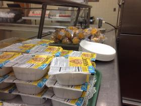 Breakfast is available in the cafeteria for high school students in West Haven, Conn.