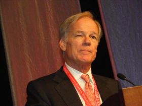 Republican candidate Tom Foley after winning his party's nomination at the GOP Convention at Mohegan Sun on May 17, 2013