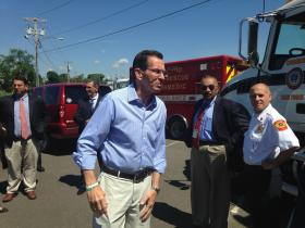 Conn. Governor Dannel Malloy in Milford on Monday