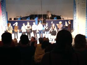 "The cast of ""Guns: A Cabaret"" receives a standing ovation at Summer Theater of New Canaan"