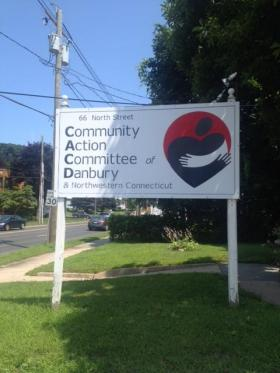 A sign outside of the Danbury, Conn. headquarters of the Community Action Agency of Western Connecticut. The agency has recently undergone a name change to better reflect its catchment area.