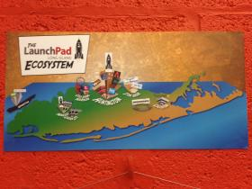 A graphic depicting the state of the tech industry in Long Island. Huntington is ostensibly the epicenter.