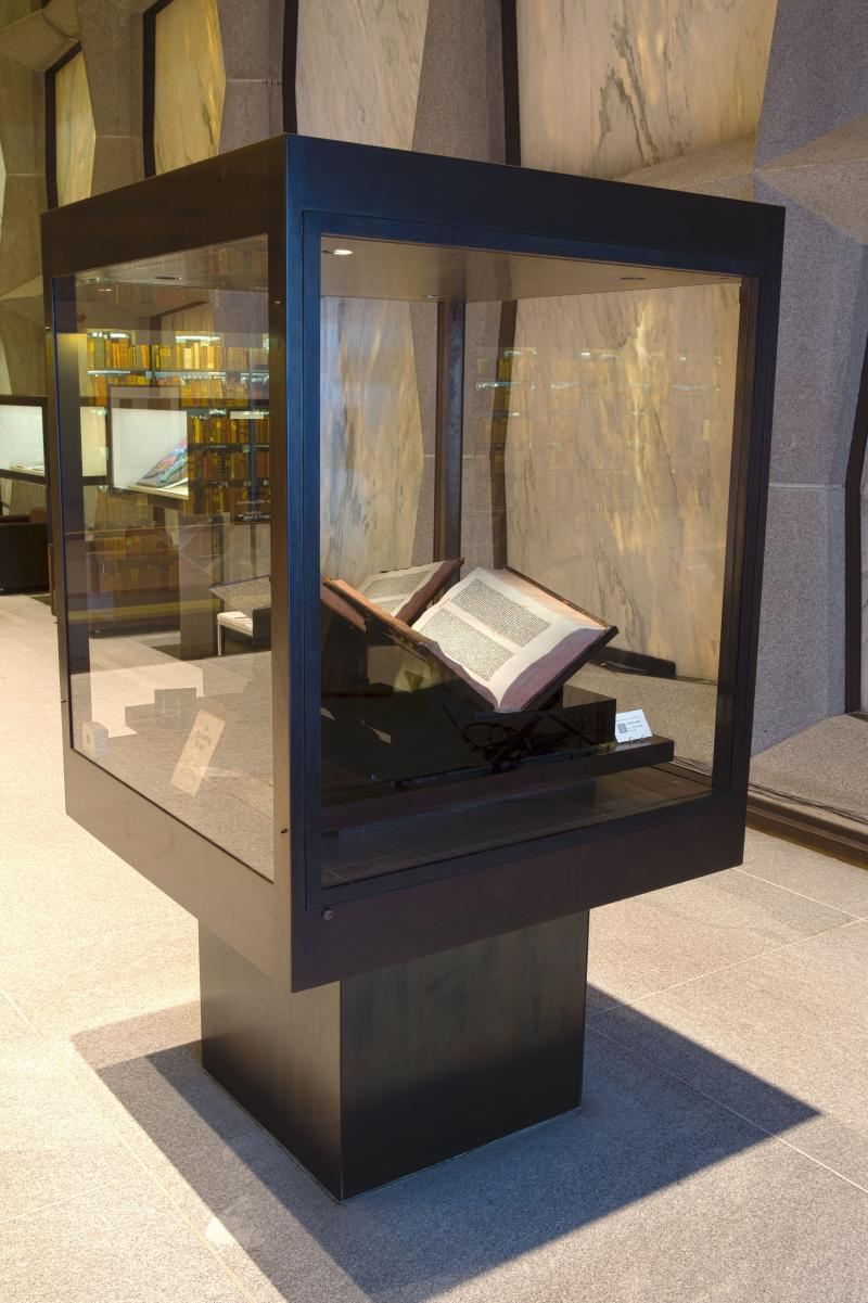 Gutenberg's Bible is five and a half centuries old. Beinecke has one of the few copies in the world