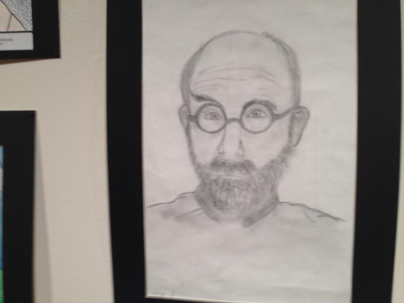 Bridgeport student Stella Alexander's portrait of Chuck Close
