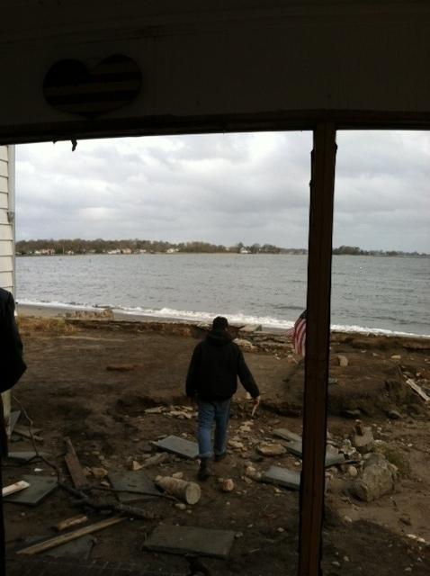 Rosemarie Sibilio's house after storm Sandy hit