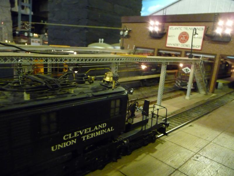 Trains at the Stamford Model Railroad Club display
