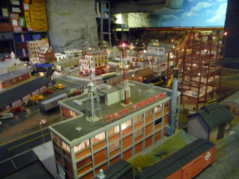 Scenery at the Stamford Model Railroad Club display