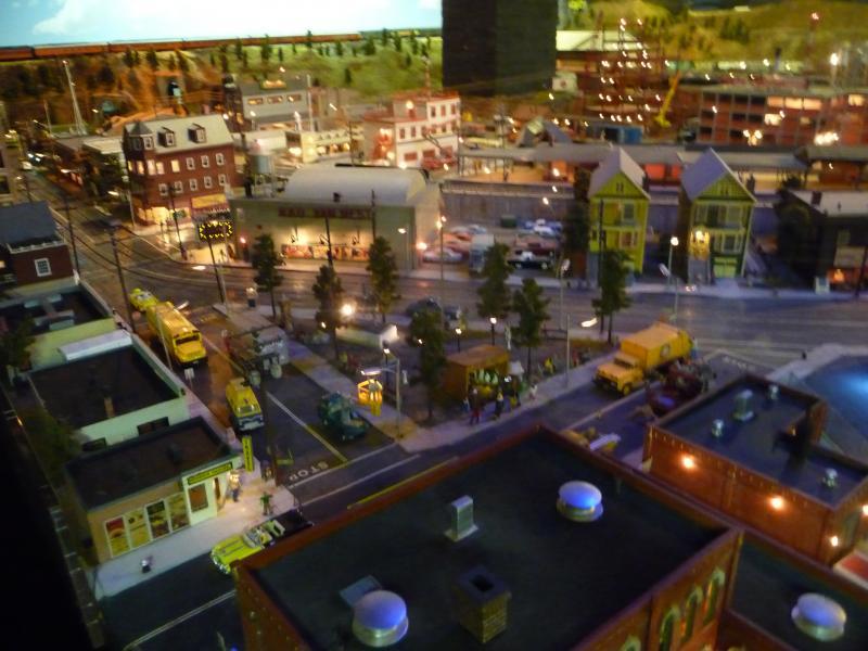 Scenery at the Stamford Model Railroad Club display