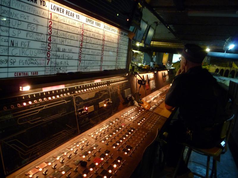 Wayne Drummond at the controls