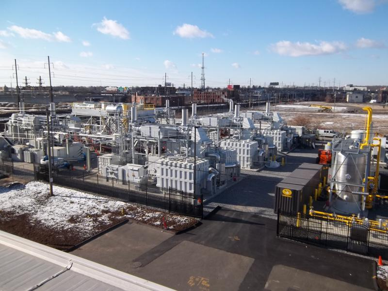 This plant in Bridgeport, Conn. is the first fuel cell plant in North America that sells its power to the electric grid.