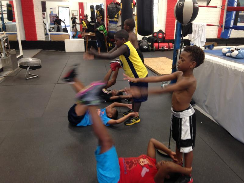 Young boxers train at Elephant in the Room Boxing Club