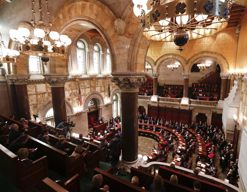 The Senate Chamber at the state Capitol in Albany.
